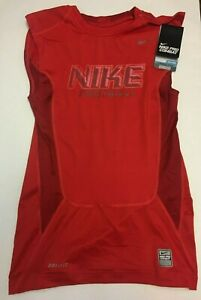 Men-039-s-Nike-Pro-Combat-Compression-Sleeveless-Dri-fit-Shirt-Red-535317-Medium