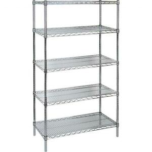 119688 > Étagère en treillis métallique chromé | Chrome Wire Shelf Unit Canada Preview