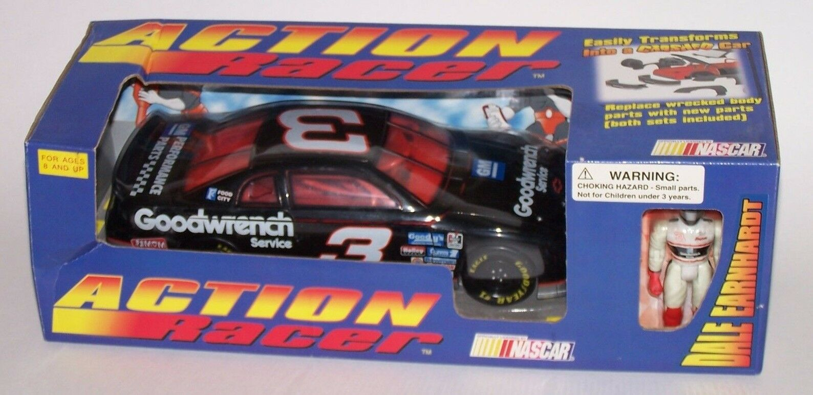 Dale Earnhardt 1996  3 GM GOODWRENCH 1 18 ACTION RACER avec Figure New in Box