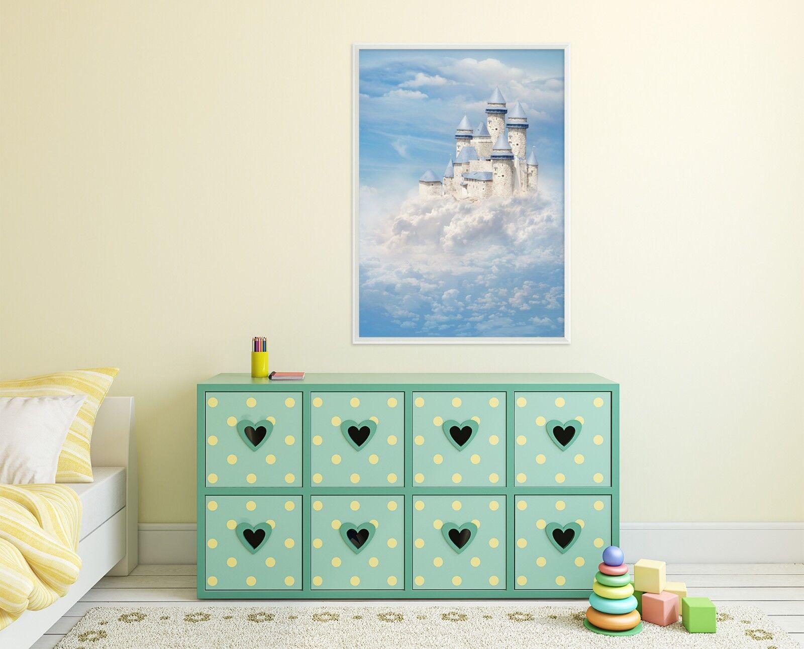 3D Cloud Castle 69 Framed Poster Home Decor Print Painting Art AJ UK