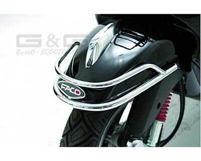 Schutzblechbügel Sturzbügel für Kotflügel Faco Chrom Piaggio Vespa LX 50 125 150