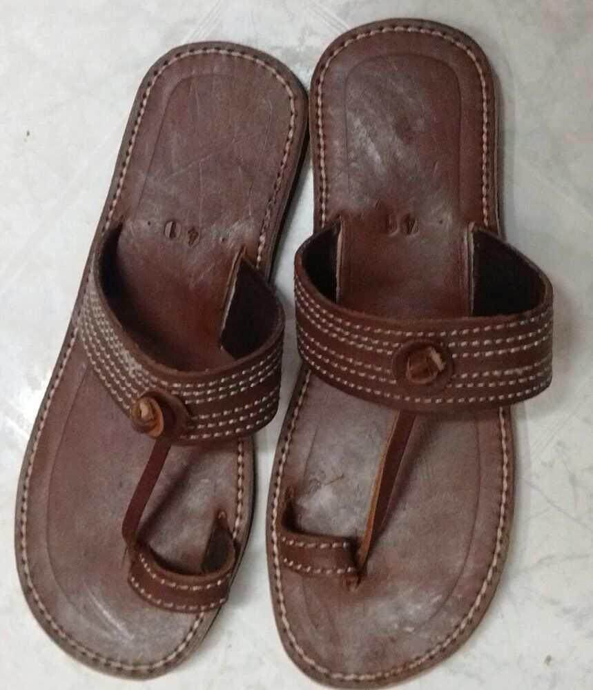 Brown Men leather sandals different sizes available