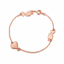 Disney Couture Rose Gold-Plated Alice in Wonderland Silhouette Bracelet