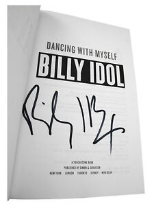 Billy-Idol-DANCING-WITH-MYSELF-Signed-First-Edition-1st-1st-Printing-dj-HC-Music
