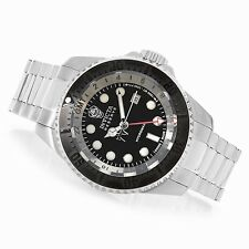 Invicta Reserve 52mm Hydromax Swiss Made GMT Black Dial S. Steel Bracelet Watch
