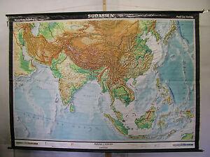 Südasien Karte.Details Zu Schulwandkarte Wandkarte Rollkarte Südasien Karte Indien Schulkarte 238x167 1960