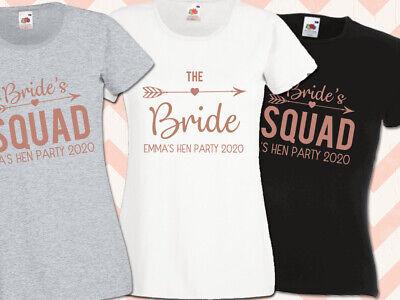 Bridal Party Shirt Decal Sets Rose Gold