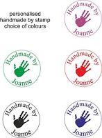 personalised handmade self inking rubber stamp. hand image & name cardmaking etc
