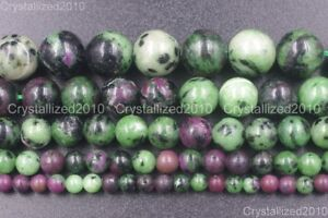 Natural-Ruby-In-Zoisite-Gemstone-Round-Beads-4mm-6mm-8mm-10mm-12mm-14mm-15-5-039-039