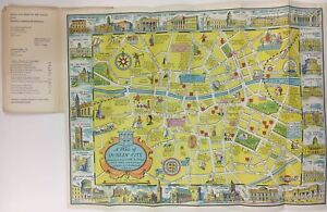 City Map Of Dublin Ireland.Details About A New Plan Of Dublin City 1968 Map Ireland Browne Nolan