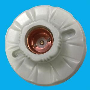 2x Céramique Culot D/'Ampoule Prises Ce /& Support de Montage Vis Edison E27 Es