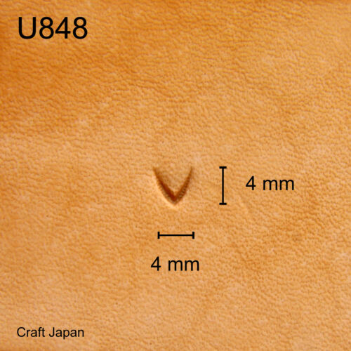 Punziereisen Leather Stamp Punzierstempel Lederstempel U848 Craft Japan