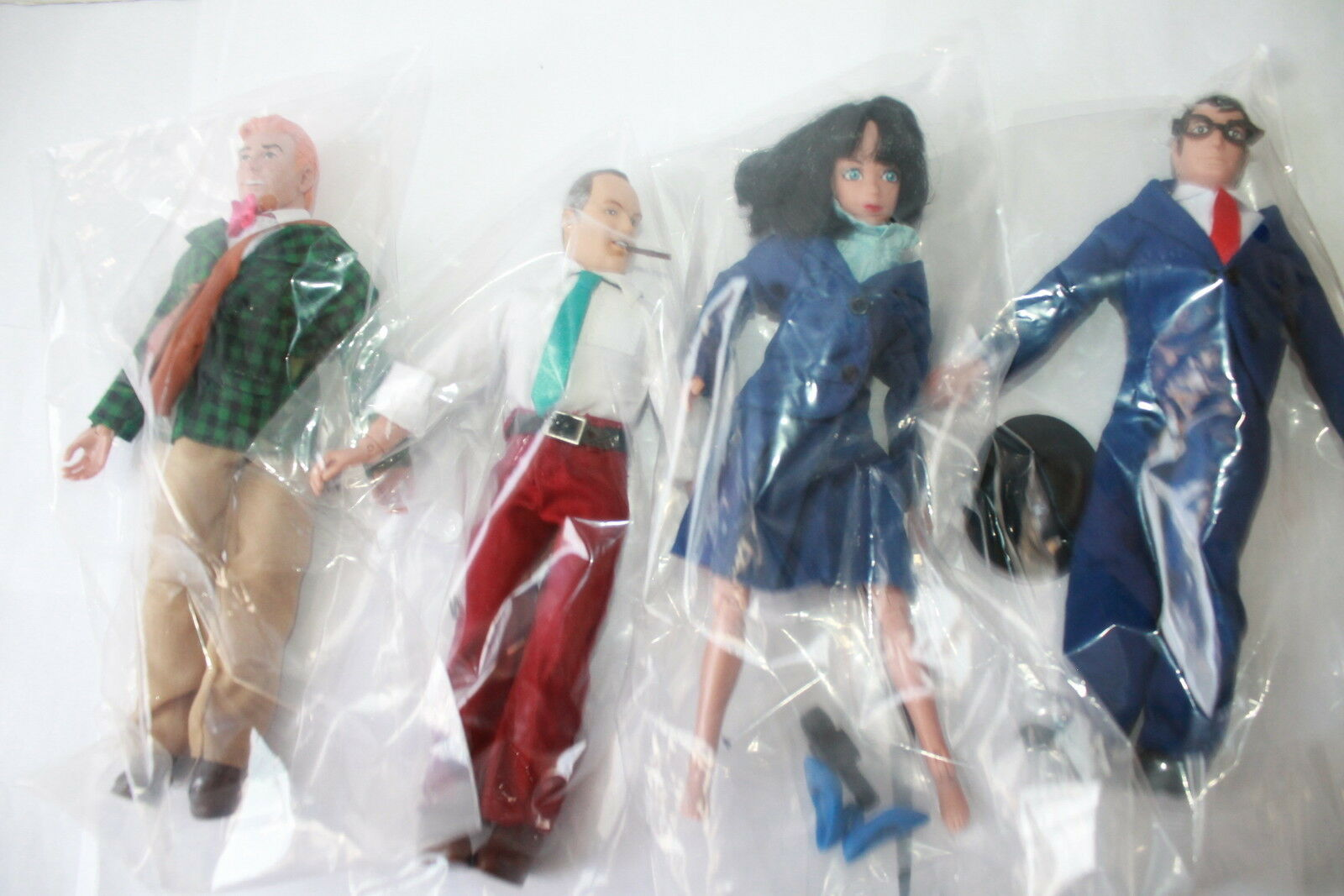 SUPERMAN SERIES 2 2 2 ;CLARK; LOIS; JIMMY; PERRY  NEW IN POLYBAG 8 INCH FIGURES 3c676a
