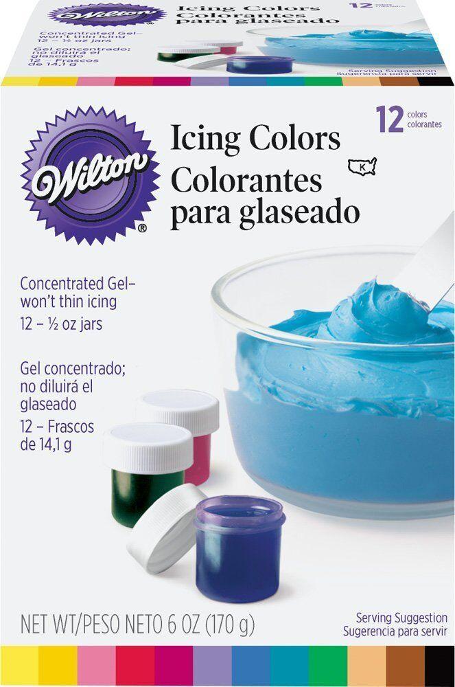 Wilton Set of 8,12 Icing Colors | eBay