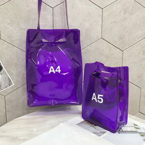USA Women Jelly Candy Clear Transparent Handbag Tote Shoulder Bags ... 6866be49c088d