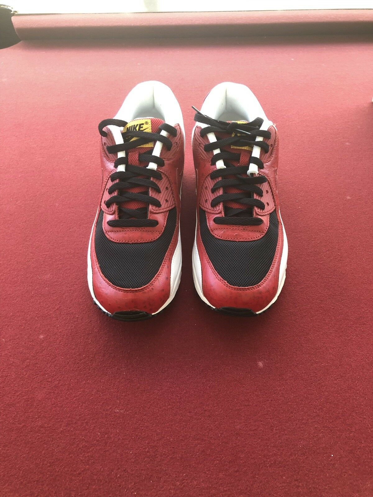 Nike Air Max 90 Black Varsity Red 325018-061 Size 10