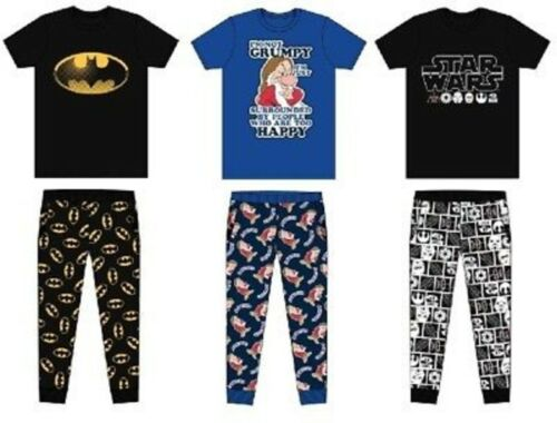 Mens Character Marvel Superhero Pyjamas Official Licensed Lounge Wear S-XL