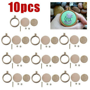 10-Sets-Mini-Embroidery-Hoop-Ring-Cross-Stitch-Wooden-Frame-Hand-Crafts-DIY-Case