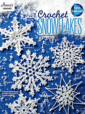 Snowflakes & Christmas Tree Pretty Ornament Holiday Lacy Crochet Pattern Booklet