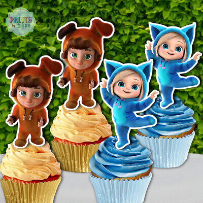 Set Of 12 Dave And Ava Cupcake Toppers Cupcake Picks Cupcake