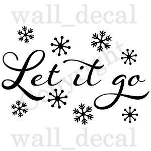 Let It Go Disney Frozen Elsa Anna Olaf Snowflakes Wall