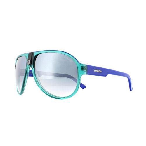 Carrera Sunglasses Carrera 32 C2A G5 Crystal Turquise Blue Azure Grey Mirror