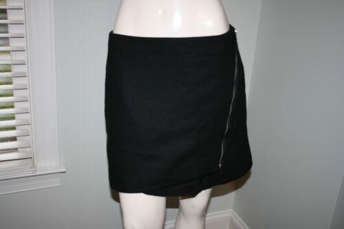 Wrap Skirt Lined 8 Gap Zip Black Mini Wool Nwt Blend 55 qR8gftn1