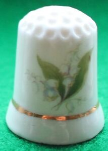 Lily of Valley Flower china thimble no38 - Norwich, Norfolk, United Kingdom - Lily of Valley Flower china thimble no38 - Norwich, Norfolk, United Kingdom