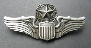 usaf air force large master pilot wings cap badge 3 inches. Black Bedroom Furniture Sets. Home Design Ideas