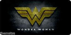 WONDER WOMAN COLOR LOGO AUTO TAG CAR COLLECTOR USA MADE LICENSE PLATE