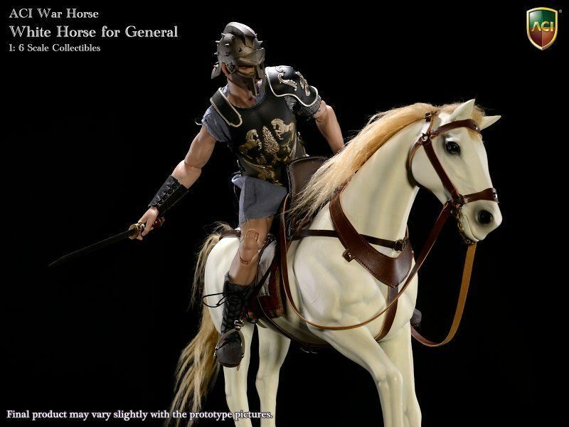 ACI 1 6 Weiß Horse and Roman General russell crowe deluxe version