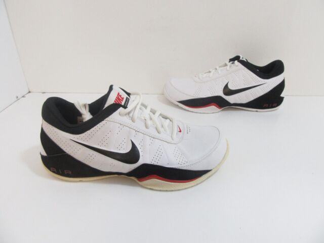 Men s Nike Air Ring Leader Low Basketball Shoes White   Black Size 8 ... eab6ef69b