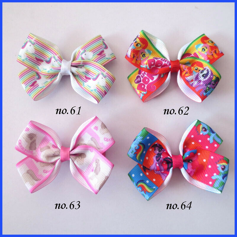 """1000 BLESSING Good Girl 2.5/"""" Wing Hair Bow Clip Unicorn Accessories Wholesale"""