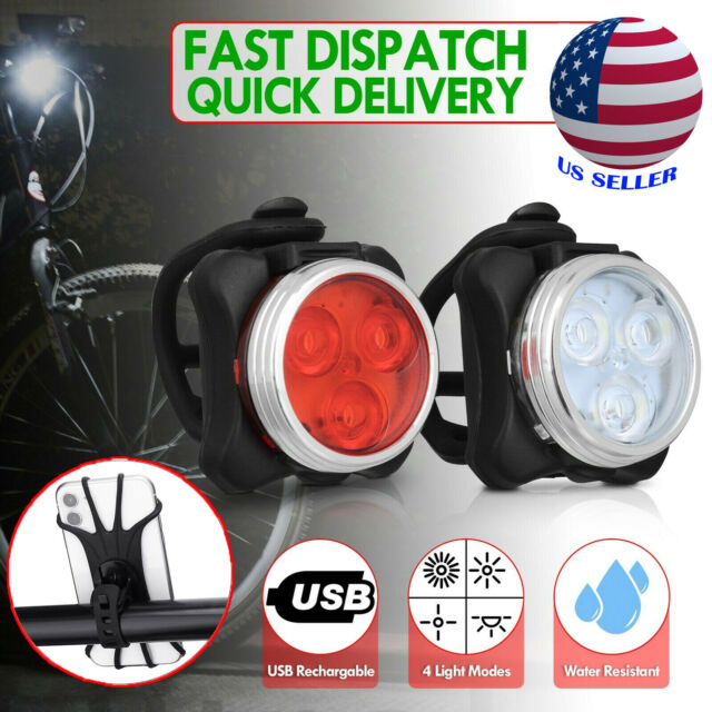 BICYCLE LED LIGHT SET CYCLE BIKE LIGHTS FRONT /& REAR
