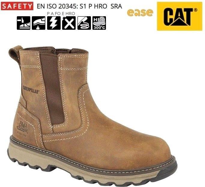 Caterpillar CAT Pelton braun Steel Toe Cap Safety S1P SRC Chelsea Dealer Stiefel