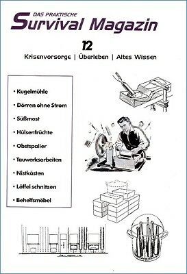 Survival Magazin Nr12 Möbelbau Trockenschrank Süßmost Überleben Prepper Wissen