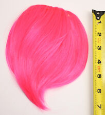 7'' Short Clip on Bangs Hot Pink Cosplay Wig Hair Extension Accessory NEW