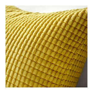 IKEA-GULLKLOCKA-Soft-Chenille-PILLOW-COVER-GOLDEN-YELLOW-20-X-20-034-NEW-FREE-SHIP