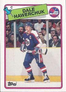 LOT-2-Dale-Hawerchuk-Cards-NM-MT-Topps-1984-85-152-1988-89-65-Winnipeg-Jets