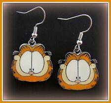 """EARRINGS: """"Garfield the Cat"""" Jewelry - enameled Garfield"""