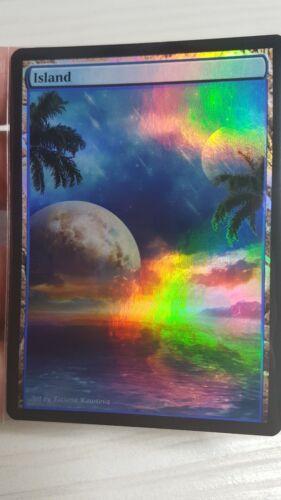 1x Island #16 FOIL Extended Textless Full Art Custom Altered Basic Land MTG