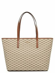 a9f6901c3164 Image is loading Michael-Kors-Emry-Large-Top-Zip-Heritage-Signature-