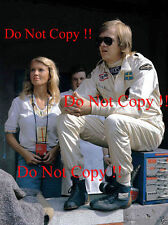 Ronnie Peterson & Barbro Lotus F1 Portrait Italian Grand Prix 1973 Photograph