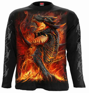 SPIRAL DIRECT ROCK SALUTE T Shirt,Biker//Tattoo//Rock//Metal//Music//Dragon//Top//Tee