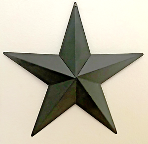 Primitive-Country-Home-Decor-Tin-Barn-Star-Black-18-or-24-inches-wall-decor