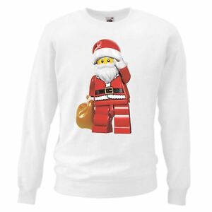 Adults-Unisex-White-Lego-Santa-Christmas-Sweatshirt-X-Mas-Gift-Idea