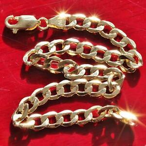 10k-yellow-gold-bracelet-8-0-034-Cuban-link-chain-vintage-3-6gr