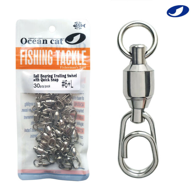tackle Stainless Steel Fast lock  Connector Barrel Swivel Fishing Hanging Snap