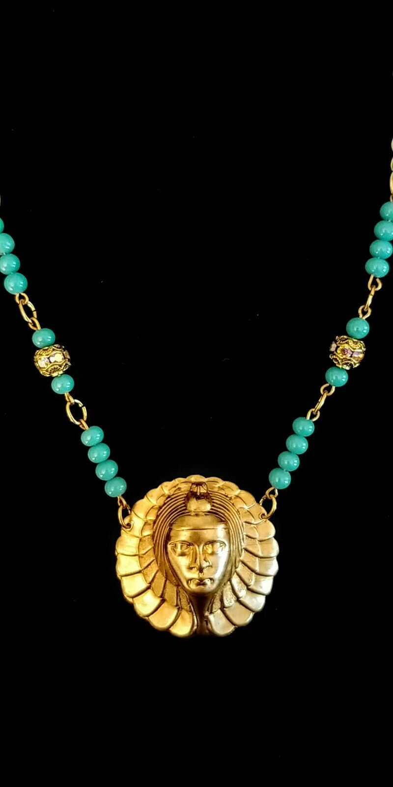 Vintage Egyptian Revival Necklace - image 6