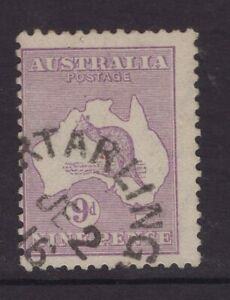 Victoria-PORT-ARLINGTON-unframed-postmark-1916-on-9d-kangaroo-2nd-w-m